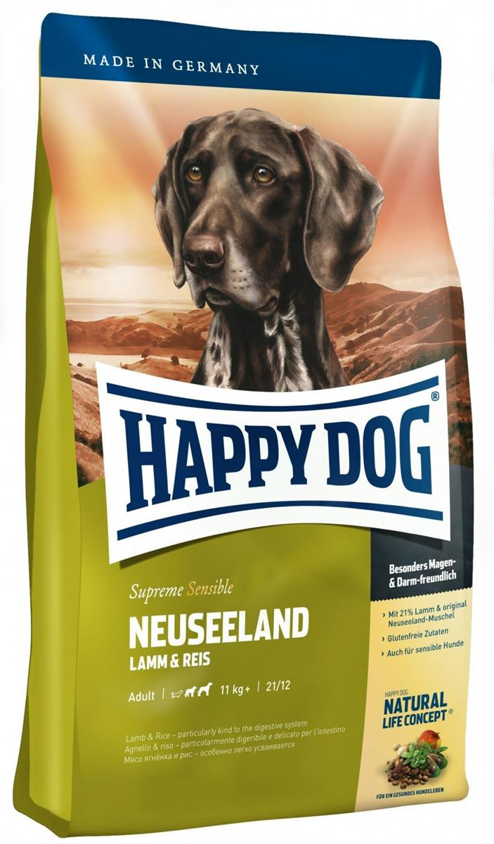 Happy Dog Supreme Sensitive Neuseeland 4Kg M/21% Lam