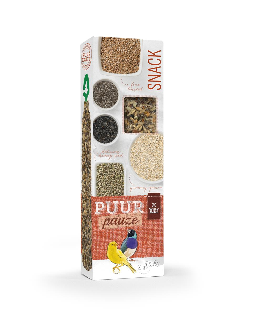Puur Sticks Kanarie/Undulat M/Superfrø 2stk 60g