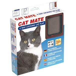 Kattedør 4Ways Cat Mate Brun (Ref 309b)