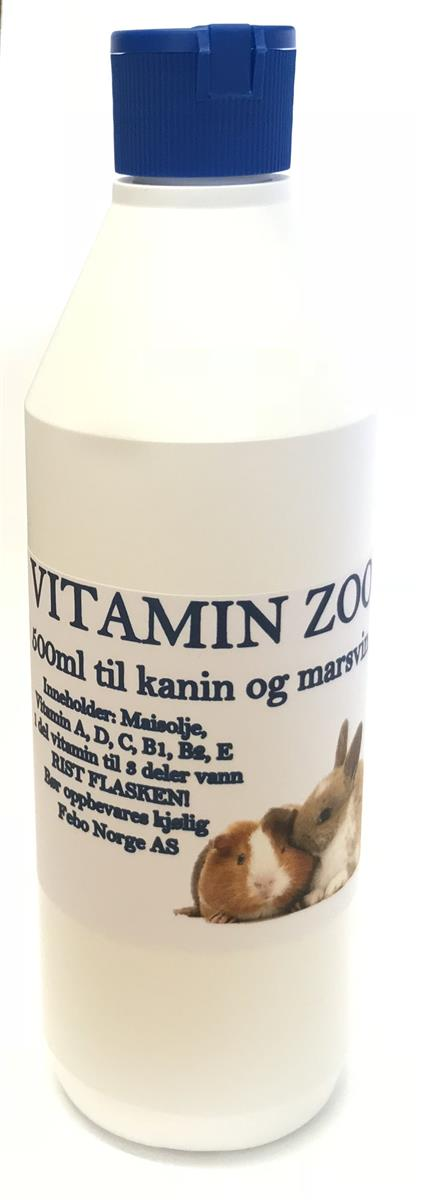Vitamin Zoo Kanin/Marsvin 500ml.