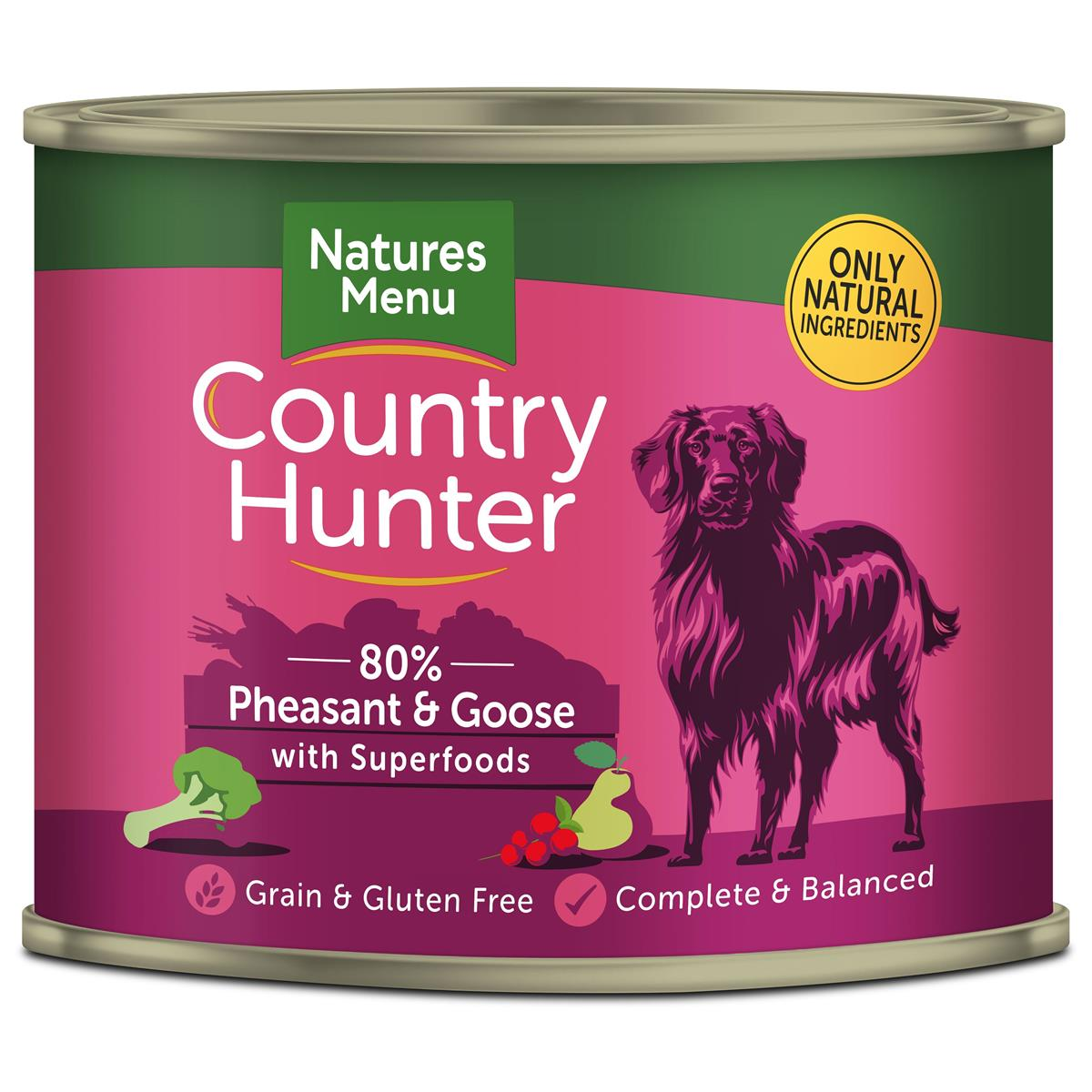 NM Boksemat Hund Country Hunter 80% Fasan & Gås 600g (6stk) Rød