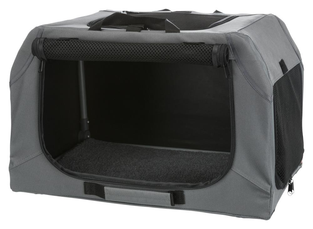 Transportbur 39733 Soft Kennel Easy M/L 95x63x69cm Grå