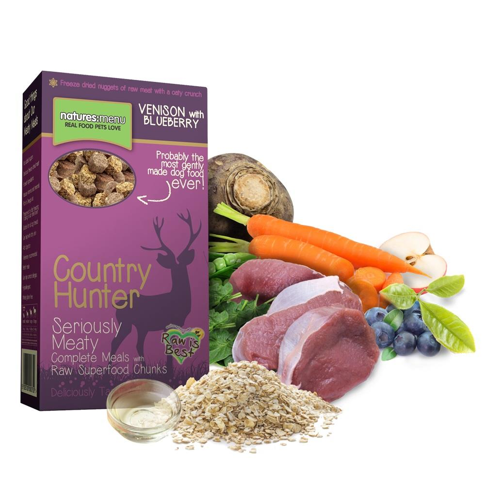 NM Frysetørket Crunch Country Hunter Hund Vilt 700g (8stk) PLOMME