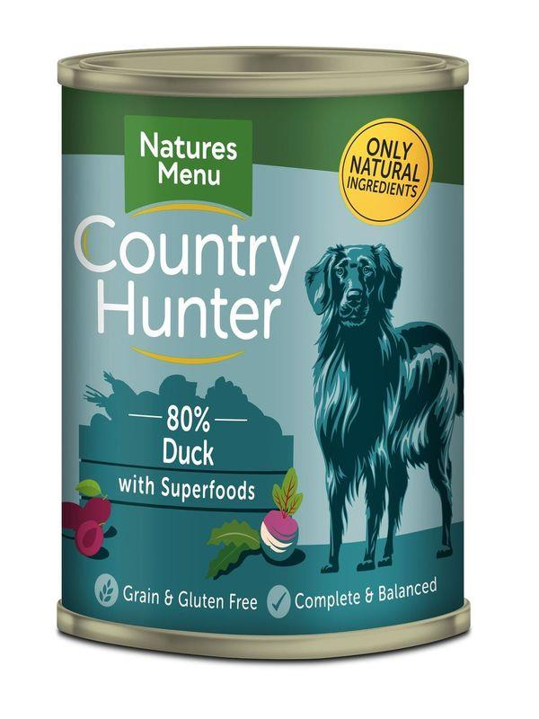 NM Boksemat Hund Country Hunter 80% And & Plomme 400g (6stk) Petrol