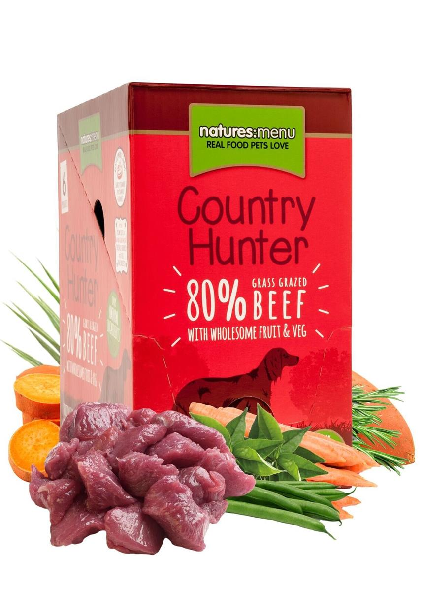 NM Pouches Hund Country Hunter Adult Biff 150g (6stk) Rød