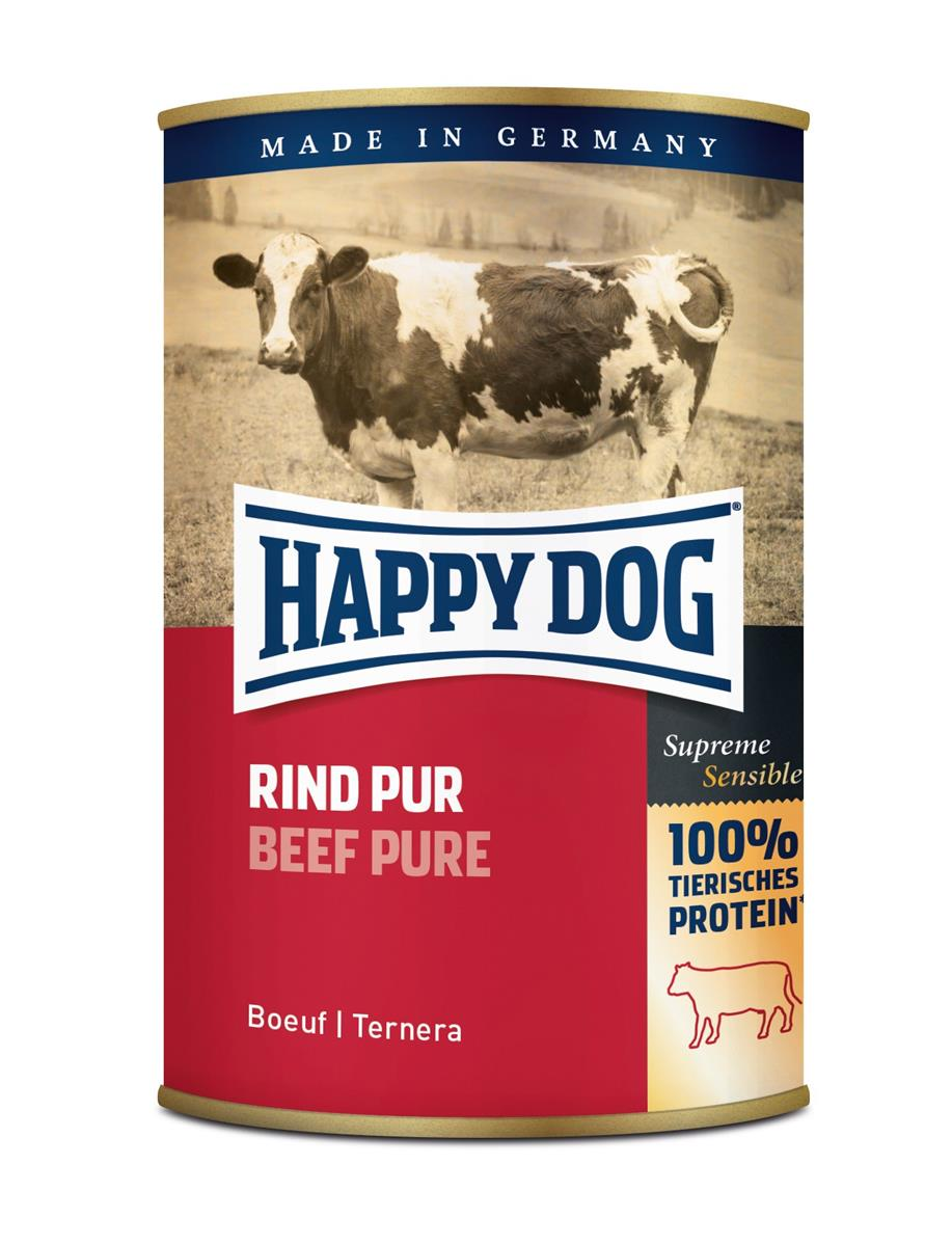 Happy Dog Boksemat 100% Oksekjøtt 400g