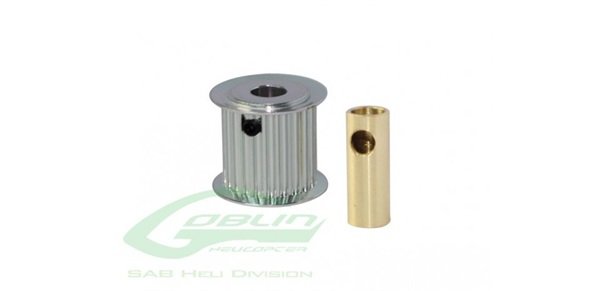 ALUMINIUM MOTOR PULLEY 23T 8/6MM HOLE