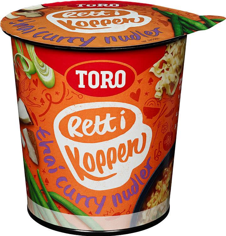 Nudler i kopp Thai Curry 6x65gr Toro
