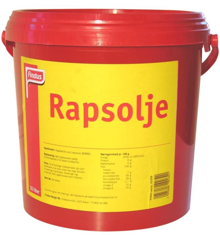 Rapsolje Findus 10 ltr Sp.