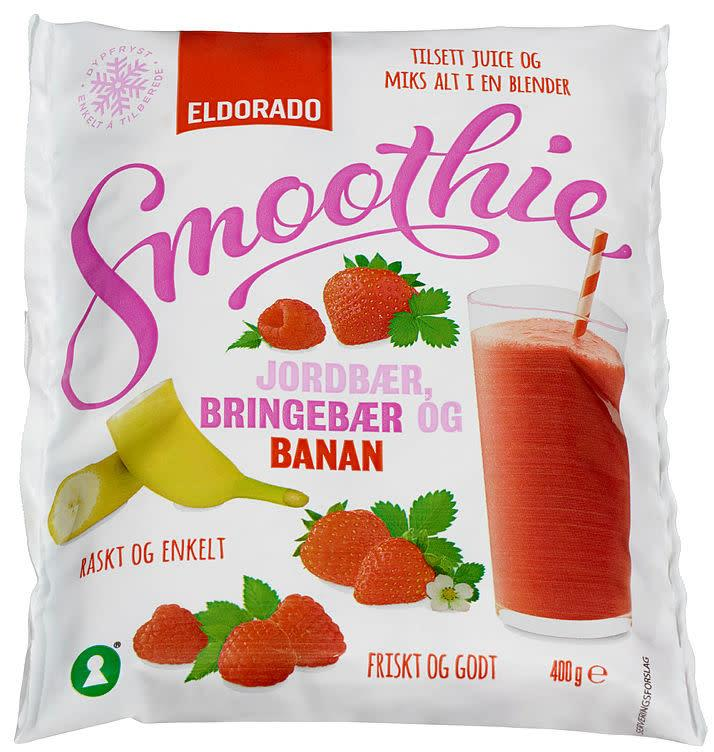Smoothie mix jord/bring/banan(rød)10x400(x)