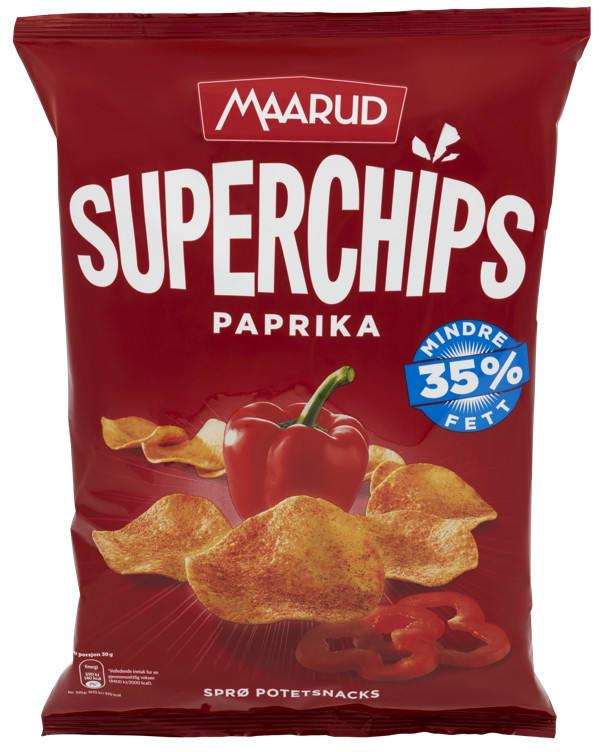Superchips paprika 15x140g Maarud(x)