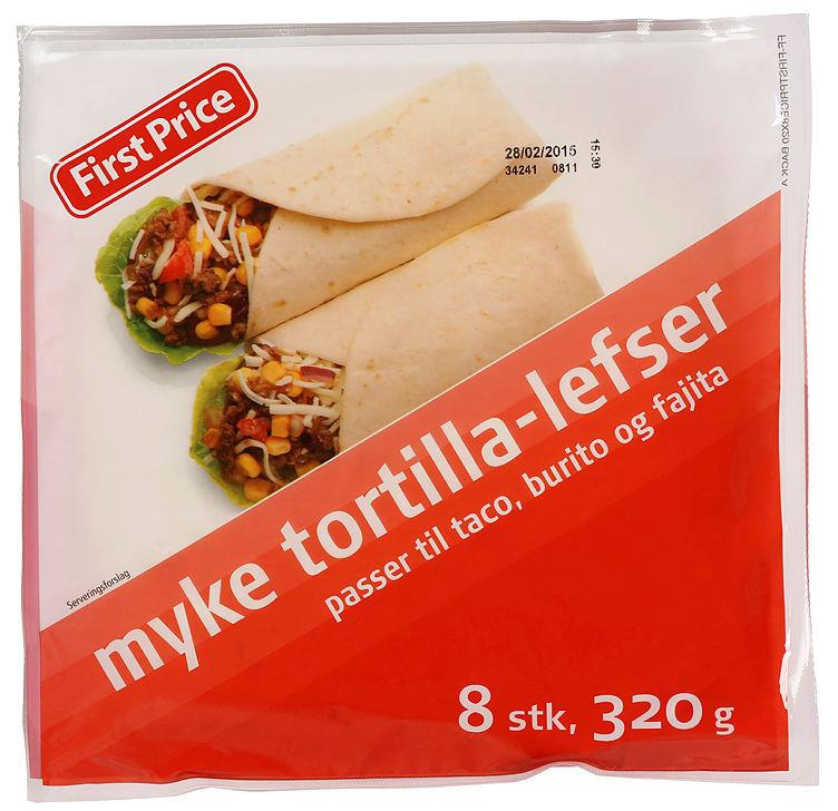 Tortilla 8pk 14x320gr First Price