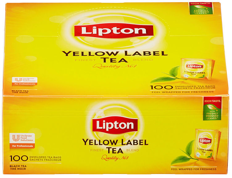 Lipton Yellow label 100 poser