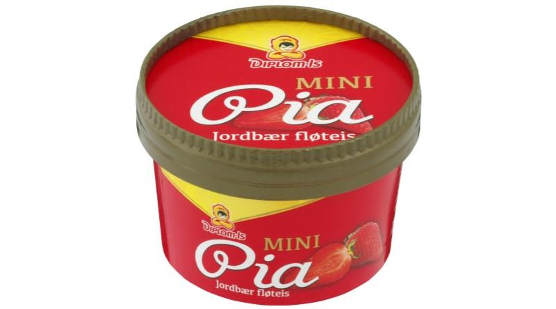 Mini-Pia Jordbær 18x120ml Diplom Is(x)