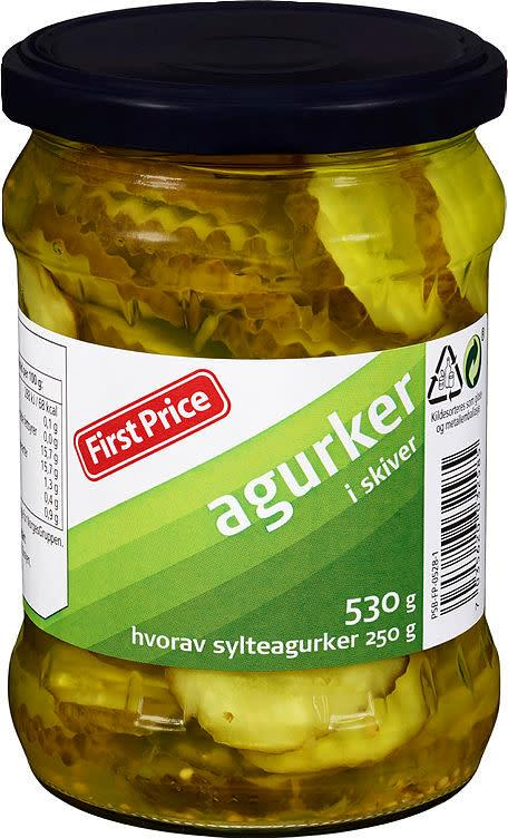 Agurker i skiver 12x530gr First Price(x)