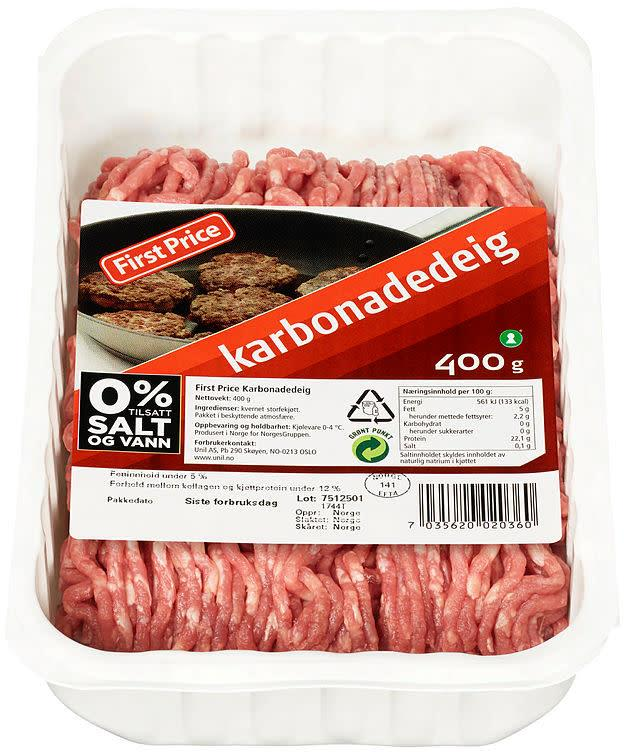 Karbonadedeig 9x400gr First Price(x)