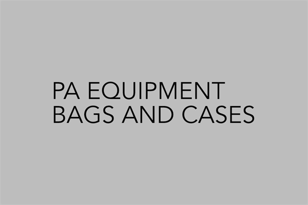 PA Equipment Bags and Cases