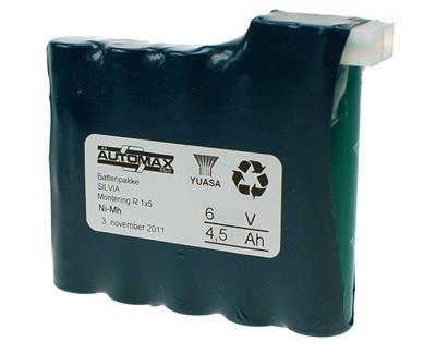 Silva batteripakke 6V-4,5Ah(A)(1x5)