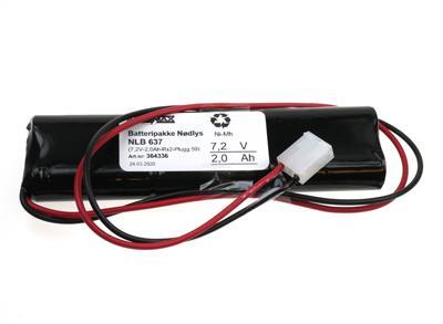 NLB 637 (7,2V-2,0Ah-Rx2-Plugg 59)