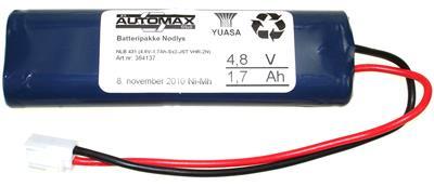 NLB 431 (4,8V-1,7Ah-Sx2-Plugg 13)