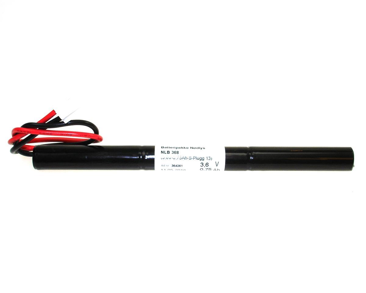 NLB 368 (3,6V0,75Ah-S-Plugg 13)