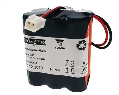 Alarm 605 (7,2V1,6Ah-Rx2-Plugg24)
