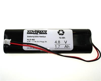 NLB 482 (4,8V1,7Ah-Sx2-Plugg 29)