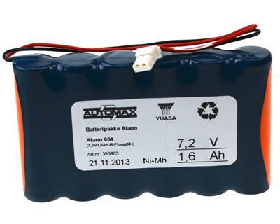 Alarm 604 (7,2V1,6Ah-R-Plugg34 )