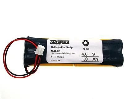 NLB 491 (4,8V1,0Ah-Sx2-Plugg 33)