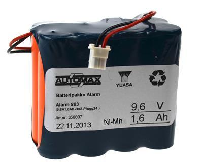 Alarm 803 (9,6V1,6Ah-Rx2-Plugg34 )