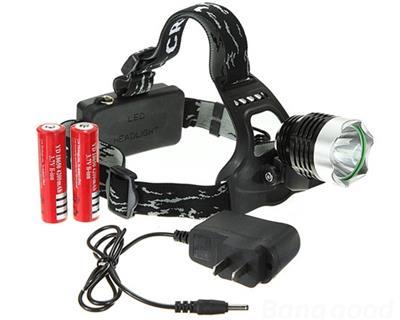 Hodelykt Led med lader og batterier