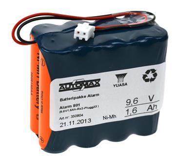 Alarm 801 (9,6V1,6Ah-Rx2-Plugg33 )