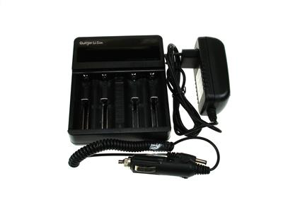 Lader Li-Ion 1-4 batterier LCD & USB charger