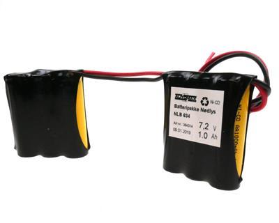 NLB 634 7,2V-1,7Ah 2Rx3 ledninger