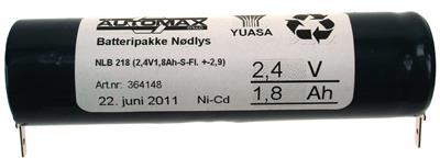 NLB 218  (2,4V1,8Ah-S-Fl.-2,9+2,9)