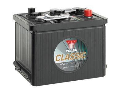 404 6V 77Ah 360A Yuasa Classic Battery