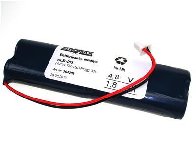 NLB 485 (4,8V1,7Ah-Sx2-Plugg 33)