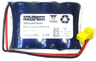 NLB 307(3,6V2,5Ah-R-Plugg 14)