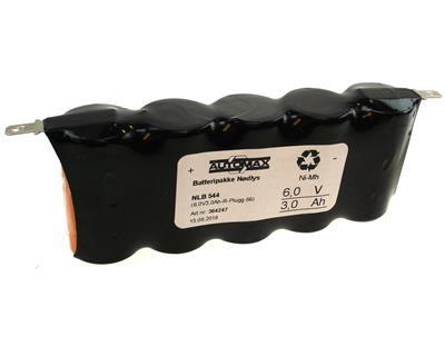 NLB 544 (6V3,0Ah-R-flatstift 4,8mm +-)