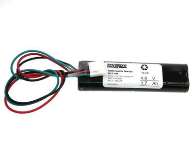 NLB 496 (4,8V-1,7Ah MS2x2 plugg 55)