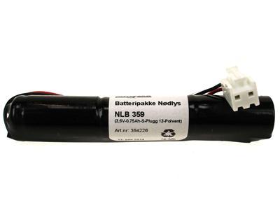 NLB 359 (3,6V-0,6Ah-S-Plugg 13-Polvent)