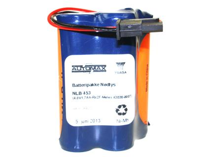 NLB 453 (4,8V1,7Ah-Rx2F-Plugg 28)