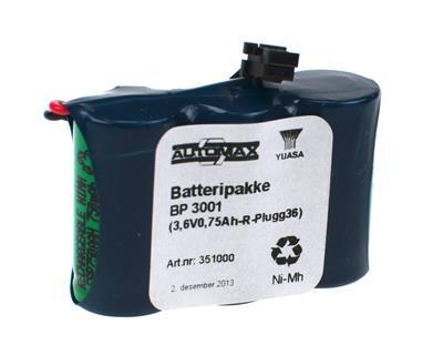 BP 3001  (3,6V0,75Ah-R-Plugg 36)