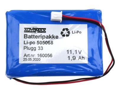Li-po 505068 11.1V 1,9Ah-Plugg 33