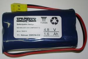 NLB 404 (4,8V1,8Ah-Sx2-Plugg 14)