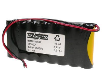 BP 8001 (9,6V-1000mAh ledninger)