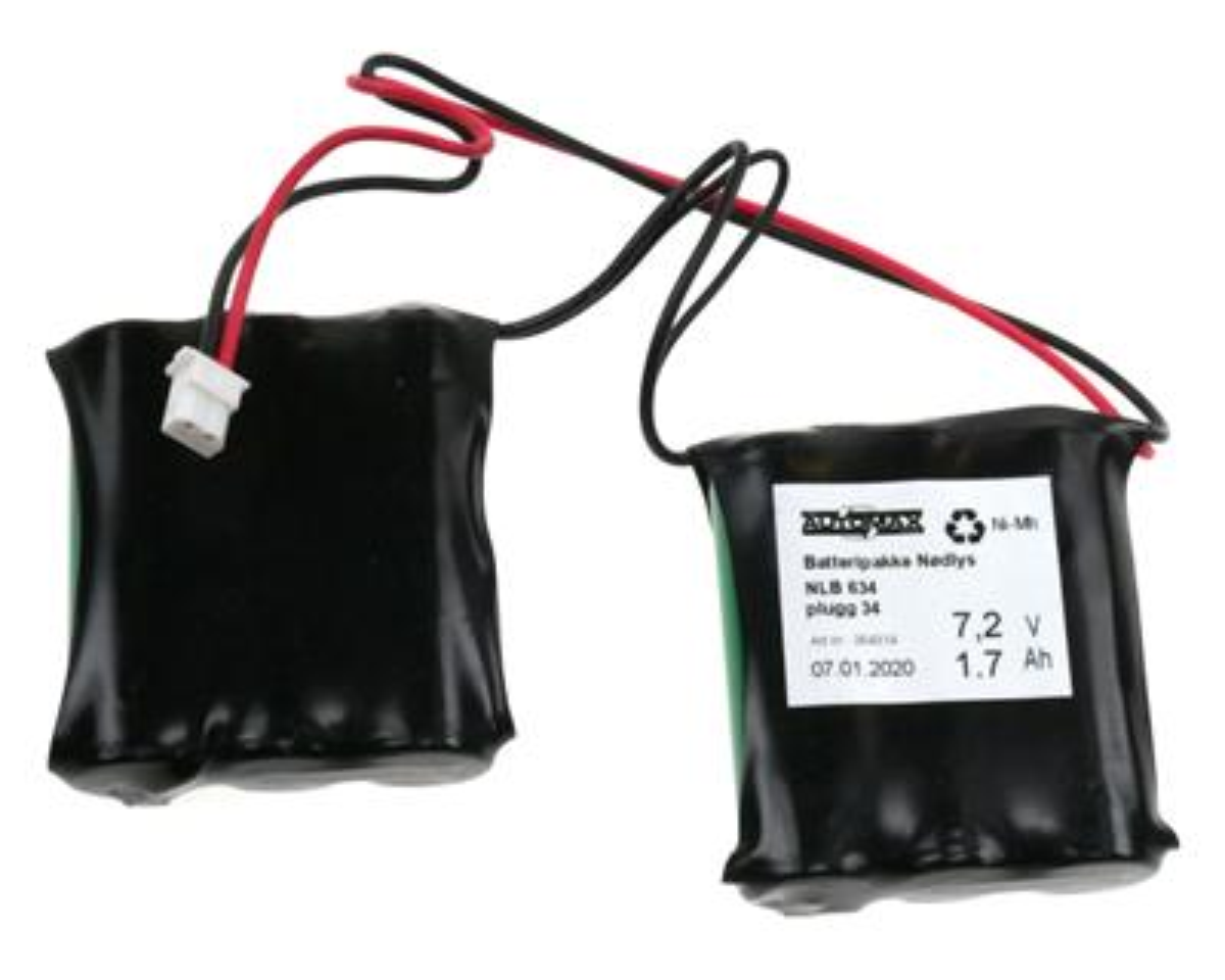 NLB 634 7,2V-1,7Ah 2Rx3 Plugg 34