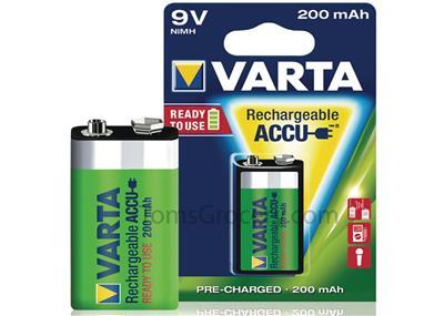 YNM Varta 8,4V 200mAh 6F22 (Ni-Mh)