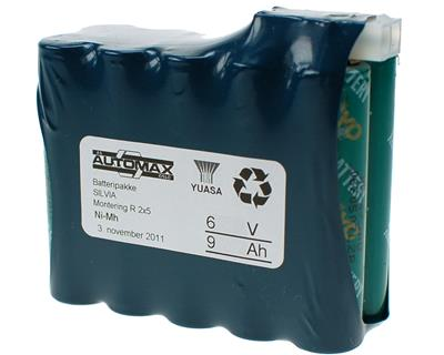 Silva batteripakke 6V-9Ah(A)(2x5)