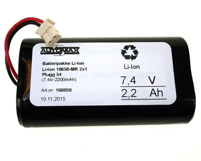 Li-Ion 18650 MR 2x1 (7.4v 2200mah)